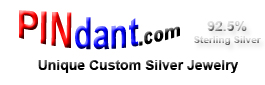 PINdant.com - Custom Sterling Silver Jewelry